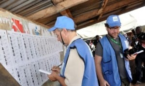International observers  during the governorship election in Ekiti State last Saturday.