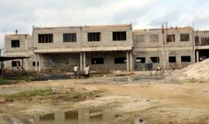 New College of Nursing building under construction in Port Harcourt. Photo: Ibioye Diama