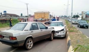 Scene of an accident on  Airport  Road in Benin  recently.