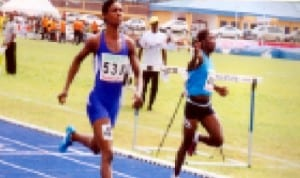 Athletes struggling for honours during a recent national meet in Port Harcourt, Rivers State.