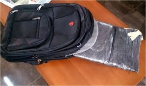 2 Kilograms of cocaine seized by Seme Command of National Drug Law Enforcement Agency in Badagry last Friday. Photo: NAN