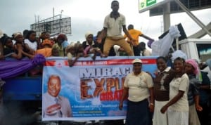 Deeper Life Bible Church on a rally on the forthcoming crusade of the church in Port Harcourt, recently.