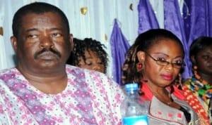 L-R: Chairman, NUJ Enugu State Council, Mr Louis Dilibe, Nigerian Association of Women Journalists (NAWOJ), and South-East Zonal Secretary, Ms Ozioma Okereke, at  NAWOJ Enugu State elections last Friday.