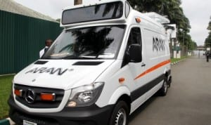 The Automated Project Monitoring and Assessment vehicle, known as the Automated Road Analyser (ARAN) unveiled by Rivers State Governor,  Rt. Hon. Chibuike  Rotimi Amaechi in Port Harcourt last Thursday.       Photo: NAN