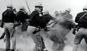 Alabama police attack voting rights marchers participating in the Selma to Montgomery marches in 1965