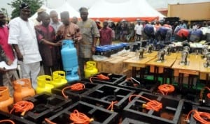 Empowerment equipment to be distributed by Ibadan South-West Local Government council in Ibadan.