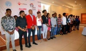 Cross section of contestants  for the Native  Vogue  Port Harcourt International Fashion Week 2014
