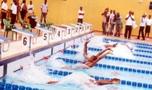 Summers smuggling for honour during a national sports event in Port Harcourt, Rivers State recently.