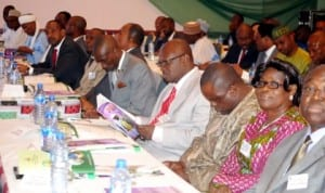Members of National Council on Power at their inauguration in Abuja, recently. Photo: NAN