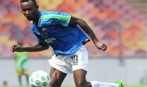 Enyimba's Mfon Udoh scored against Taraba United on Sunday to steer the people's Elephant to third spot on the log.
