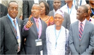 L-R: Director, Nigeria Sustainable Development Solutions Network (NSDSN), Prof. Ikenna Onyido, Director, Centre for Sustainable Development (CESDev), Prof. Labode Popoola, President ,African Sustainable Development Network (ASUDNet), Prof. Ndowa Lale and a  guest speaker, Prof. Sola Olopade, at the annual Ibadan Sustainable Summit in Ibadan recently