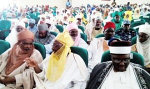 Traditional rulers at a summit on traditional justice system reform in Dutse, Jigawa State recently.