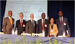 L-R: Rivers State Attorney General and Commissioner for Justice, Worgu Boms, with Taiwan Deputy Minister for Justice, Dr. Chen-Huan Wu, Symposium Chairman, Saul M. Froomkin, Chairman, Nigerian House of Representatives Committee on Judiciary, Hon. Ahmad Ali, Ombudsman and former Associate Justice of the Supreme Court of the Philippines, Conchita Carpio-Morales and Solicitor-General /Permanent Secretary, Rivers State Ministry of Justice, Barr. Rufus Godwins, at the 32nd International Symposium on Economic Crime at Jesus College, University of Cambridge, United Kingdom.