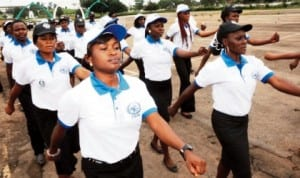 Members of Child Rights Brigade, Enugu State Command during their inauguration in Enugu recently.