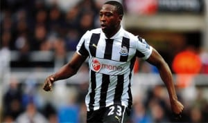 Ameobi during his days at Newcastle United