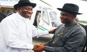 President Goodluck Jonathan And Governor Amaechi, Rivers State