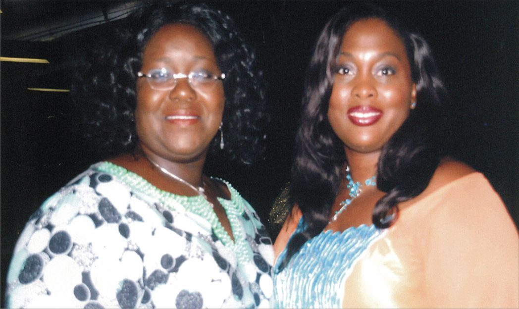 Rivers State Commissioner for Information and Communications, Mrs Ibim Semenitari (left), with former Rivers State Commissioner for Women Affairs, Mrs Emmanuela Izunwa, during the recently-concluded Port Harcourt International Fashion Week in Port Harcourt. Photo: Egberi Sampson
