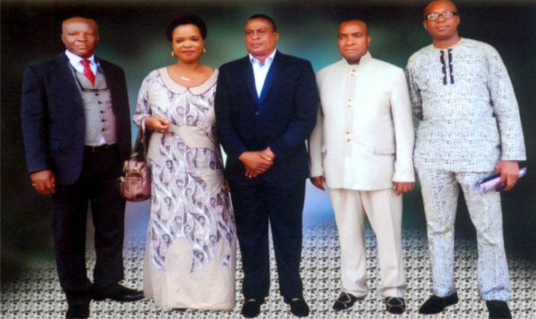 Barr. Tasie C. Wike, Chairman, Governing Council, RSCHST (middle), Hon. Anthony Biragbara, member (right), Mr Chibuenyi Frank Nwanodi, member (2nd right), Mrs Franka A. Nwoke member (2nd left), Nicholas M. Ikiriko, member (left).