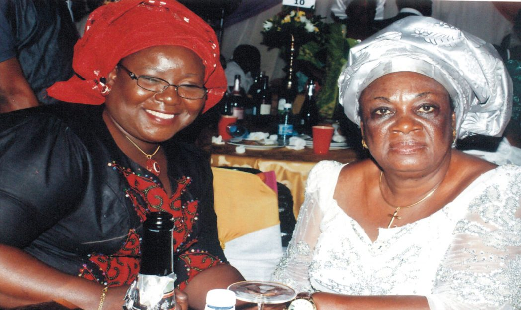 Rivers State Commissioner for Information and Communications, Mrs Ibim Semenitari (left), with Mrs Mediline Abam, during the 60th birthday ceremony of Dr Claribel Abam, Executive Secretary, Rivers State Primary Healthcare Management Board in Port Harcourt, last Saturday.