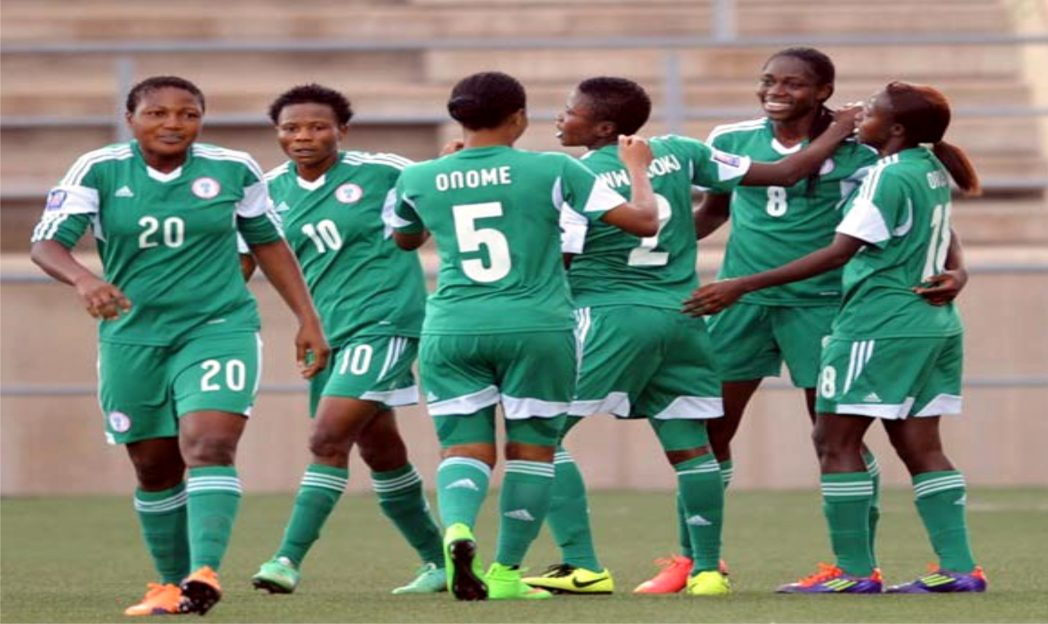 Super Falcons celebrating their victory