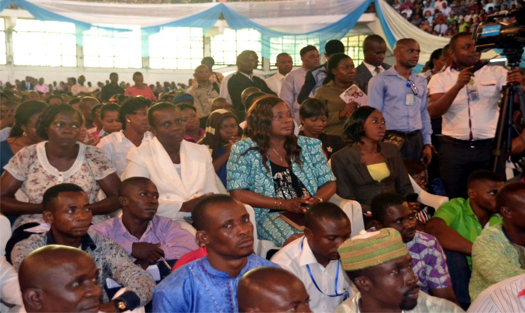 Cross session of participants at the Ebola virus seminar organised for teachers in Rivers State by the Ministry of Education in Port Harcourt, recently. Photo: Ibioye Diama