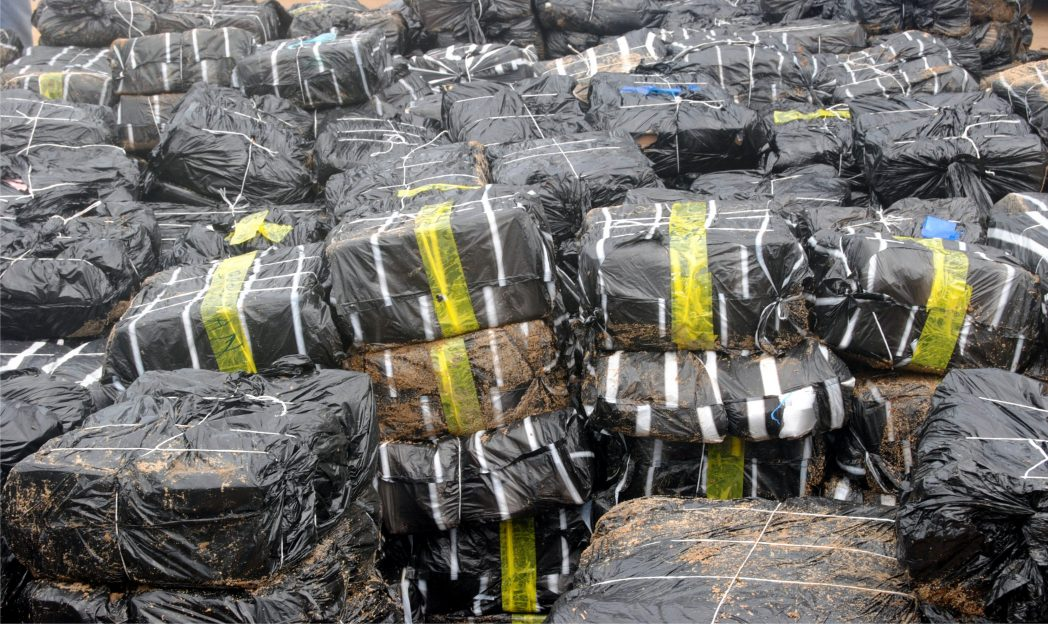 Cartons of poultry products seized by Nigeria Customs Service at Seme Command , recently.