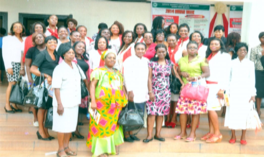 Group photograph of the Medical Women Association of Nigeria  (MWAN) and Nigeria Assocaition of Women Journalists