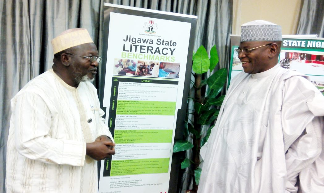 Governor  Sule Lamido of Jigawa State (right), receiving the chairman, Governing Council of  Nursing and Midwifery Council of Nigeria, Alhaji Mustapha Jumare in Dutse, recently.