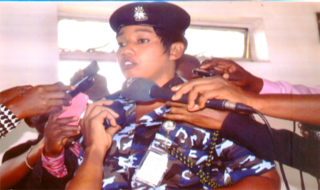 Rivers State Police Public Relation Officer (PPRO), Angela Agabe briefing Press men at Police Command Moscow road, Port Harcourt, recently. Photo: Nwiueh Donatus Ken