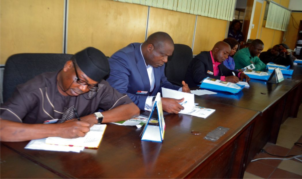 Cross section of Nigeria Defence College taking note during their working tour to Rivers State recently.