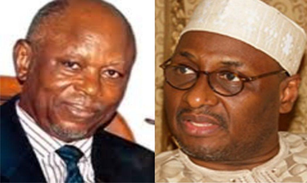 John Oyegun, APC National Chairman and Adamu Mu'azu, PDP National Chairman
