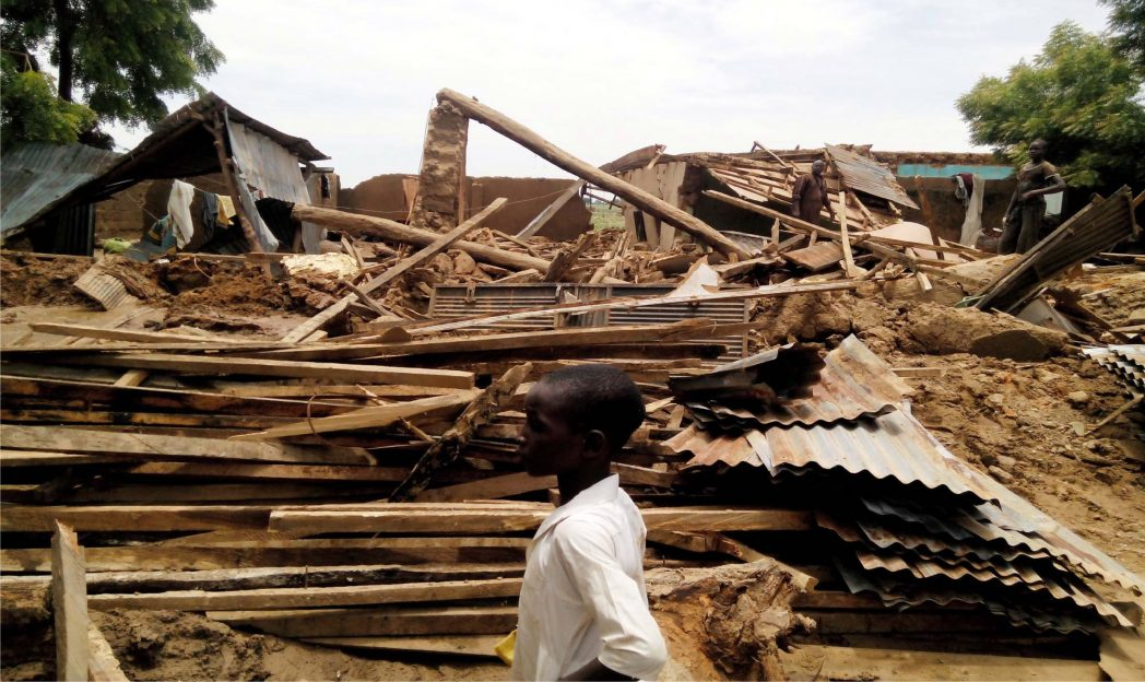 Wreckage of a house destroyed by flood in Ringim Local Government Area of Jigawa, recently.         Photo: NAN