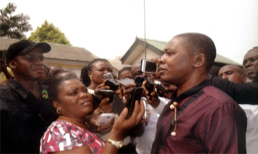 Deputy Speaker, Rivers State House of Assembly, Hon. Leyii Kwane addressing Assembly Correspondents on Protest by Local Government Workers on Local Government Autonomy last Tuesday