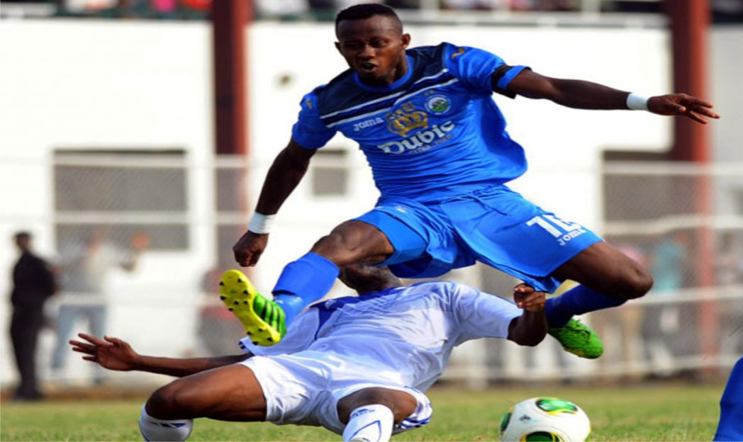 League highest scorer, Mfon Udoh in action during the just concluded 2013/2014 Premier League match