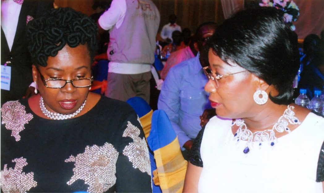Executive Vice Chairman, Moni Pulo, Mrs Seinye Lulu Briggs (right) with Mrs Margaret Alabraba at the Garden City Corporate Award, organised by Rivers State Ministry of Commerce and Industry in Port Harcourt.       Phot Egberi A. sampson