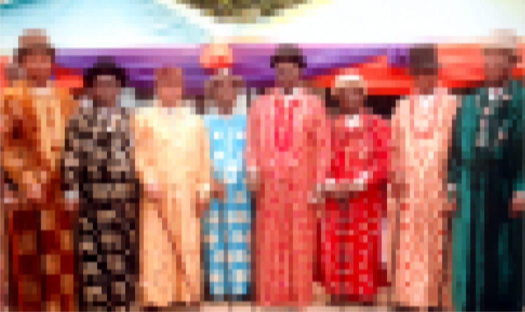 Okan-Ama Ngo Uboone, Dr U.D Ngere and chairman Andoni Council of  Traditional Rulers (middle) HRH Isreal Otuno Okan Ama Unyeada (left) and other traditional rulers during a function  at  Ngo, Rivers State