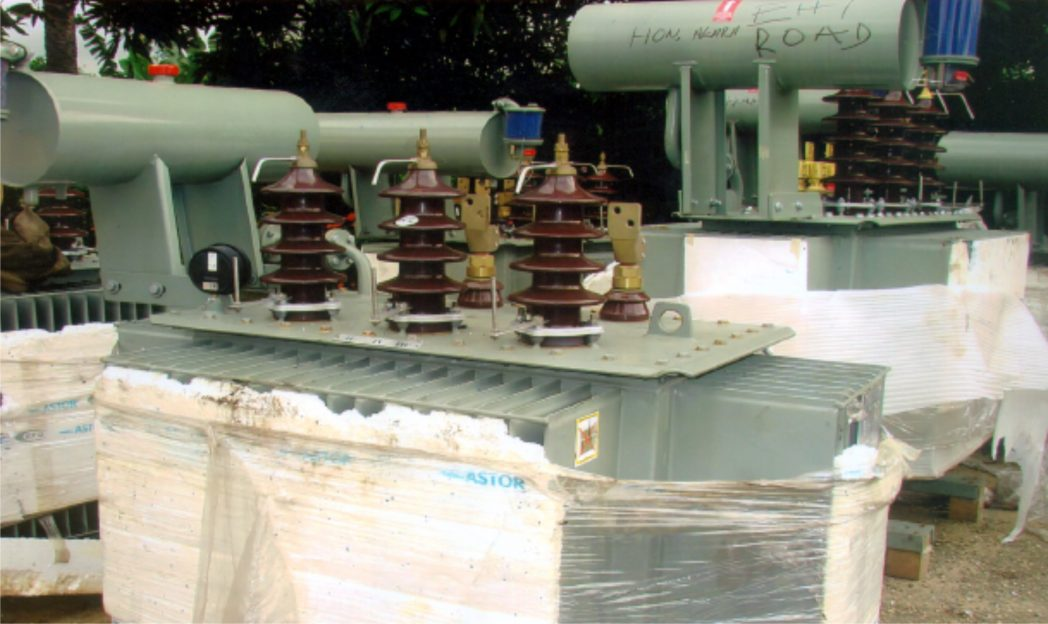 Some Transformers donated by the lawmaker representing Oyigbo in the RSHA Hon. Okechukwu .A. Nwuogu