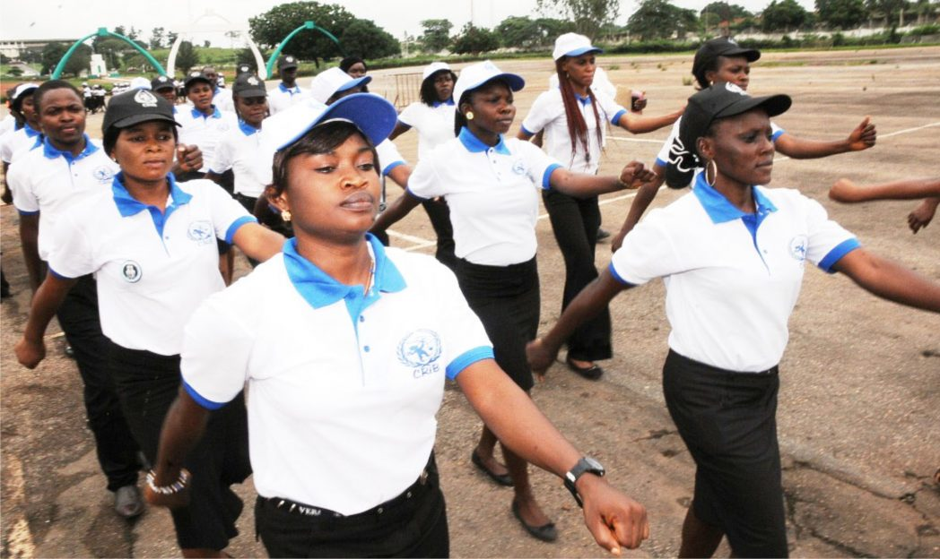 Members of Child Rights Brigade, Enugu State Command, during their inauguration in Enugu.