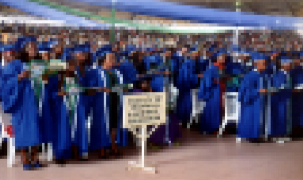 Cross section of students during 2014/2015 matriculation of RSUST at the convocation Arena on Tuesday.