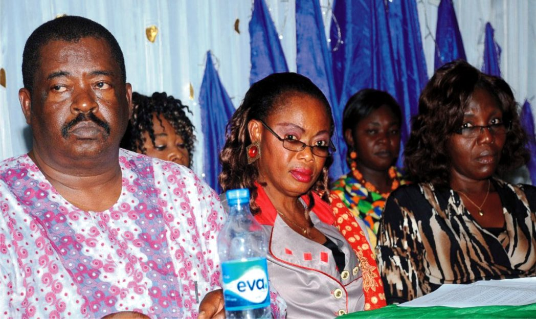From Left: Chairman, NUJ Enugu State Council, Mr Louis Dilibe; Nigerian Association of Women Journalists (Nawoj), South-east Zonal Secretary, Ms Ozioma Okereke and Chairperson, Abia State Chapter, Ms Beatrice Odoemena, at  Nawoj, Enugu State Elections  recently.