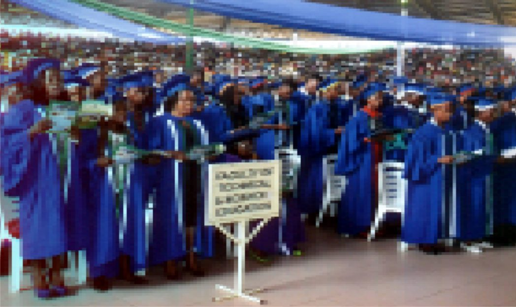 Cross section of matric students during 2014/2015 matriculation of RSUST at the Convocation Arena recently.