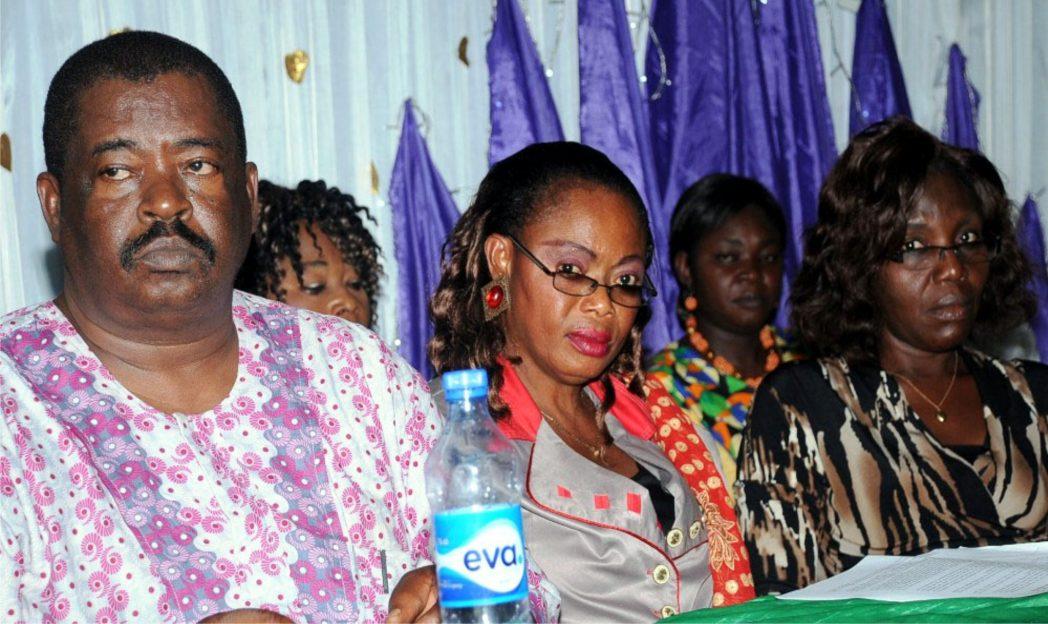 L-R: Chairman, NUJ Enugu State Council, Mr Louis Dilibe, Nigerian Association of Women Journalists (NAWOJ), South-East Zonal Secretary, Ms Ozioma Okereke and Chairperson, Abia State chapter, Ms Beatrice Odoemena, at NAWOJ Enugu State.