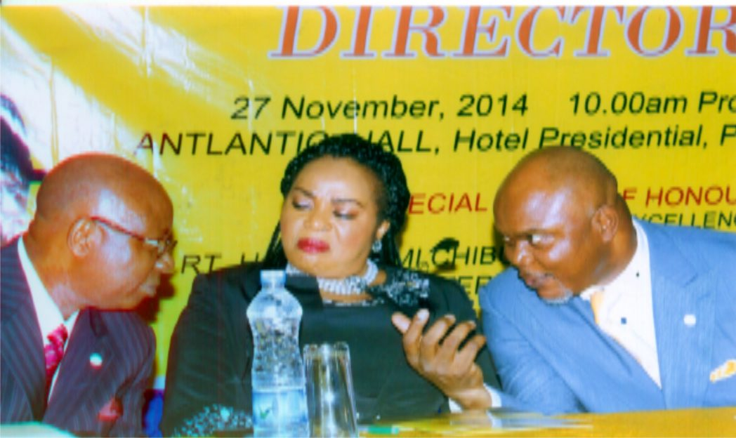 L-R: Rivers State Commissioner for Environment, Dr Nyema Weli, General Manager, Radio Rivers, Ms Mediline Tador and Commissioner for Commence and Industry, Hon Chuma C. Chinye at the public presentation of Yellow Pages, organised by the Ministry of Commence and Industry in Port Harcourt, recently