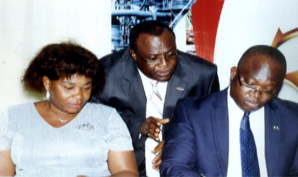 L-R: Permenant Secretary  in Rivers State Ministry of Commerce and Industry, Ms Kadilo Brown representing Governor of Rivers State, Chairman, Manufacturers Association of Nigeria (MAN) Rivers/ Bayelsa States,  Hon Charles Beke, Senior Special Assistant to Bayelsa State Governor on SME Development, Hon Ebirkure Eradiri during the 30th Annual General meeting of MAN  in Port Harcourt.