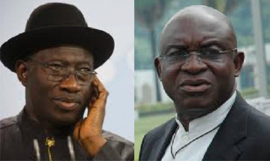President Goodluck Jonathan and Senate President, David Mark