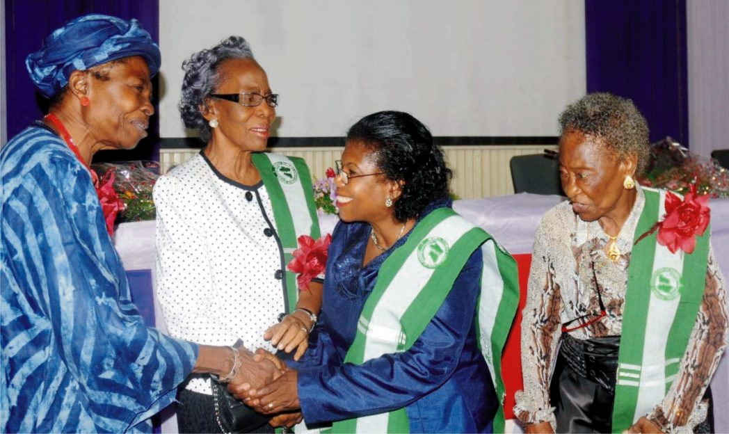 """L-R:Guest Speaker, Prof. Adebisi Sowunmi, Hon. Prof. Oyinade Olurin, President, Medical Women Association, Oyo State, Dr Kemi Otolorin and Dr Tinuola Abiola-Oshodi, at the lecture, """"Leadership, Conflicting Signals In Recent Times"""" organised by Medical Women Association of Nigeria, Oyo State chapter."""