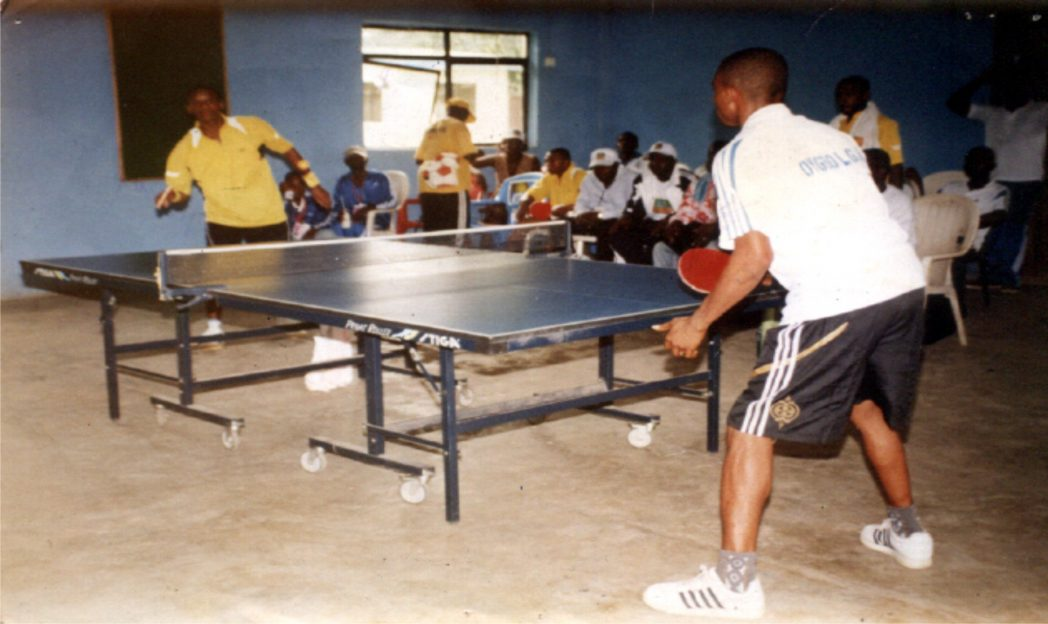 Table Tennis players in competition