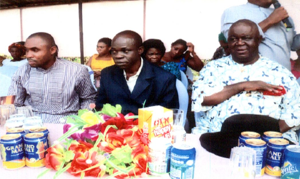R-L: Chairman of the ocassion, Chief S. A. Idasefiema, Representative from Ministry of Commerce and Industry, Mr Sunday Edum and Guest at the launching of Yiinu Kpeam Cooperation  Investment and Credit Society at Kono Water front in Khana Local Government Area, Rivers State.                                                    Photo: Nwiueh Donatus Ken