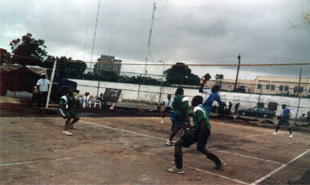 Action recorded in an Abula match at the Alfred Diete-Spiff Sports Complex, Port Harcourt during a previous state sports festival