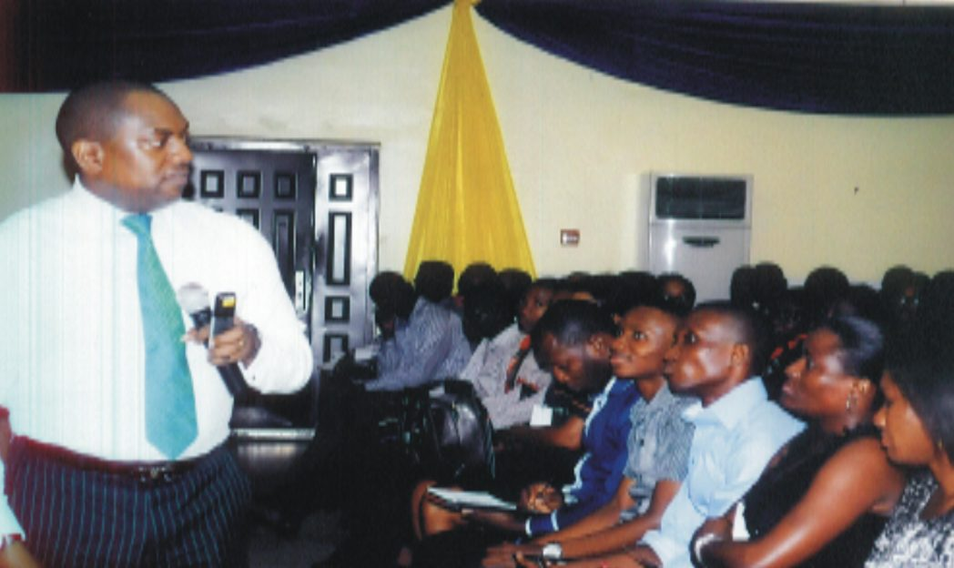 Fela Durotoye, MD/CEC Visible Impact (left) delivering the Gospel during the 4th International Christian Business exhibition and conference in Port Harcourt.            Photo: Egberi A. Sampson